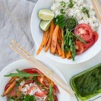 Kräuter-Pesto|Ein leckeres Topping für meine Reis-Bowl